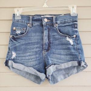 Garage High Waisted Jean Shorts Size 00